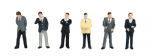 Bachmann Scenecraft 36-040 00 Scale Businessmen(6)